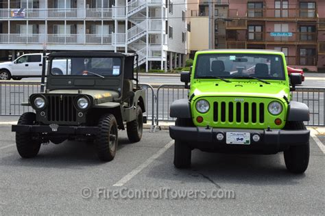 modern army jeep restored willys and modern jeep wrangler side by side