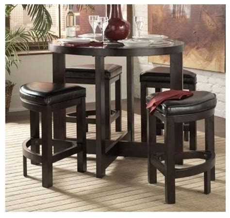 Small Indoor Bistro Table Set Brussel 5 Counter Height Table Set Contemporary Indoor Pub And Bistro Sets By Ivgstores