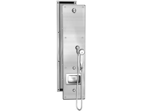 Acorn Shower by Front Access Ada Single Panel Stainless Steel Security