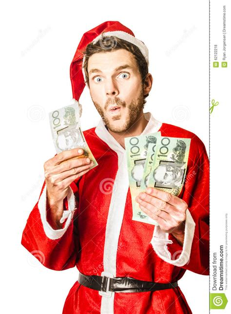 santa at christmas sale in australia stock photo image