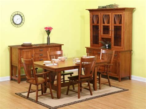 mission fantail amish dining room collection amish