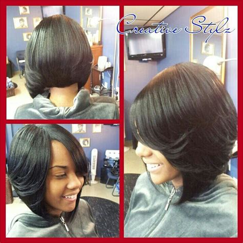 black bob hairstyles quick weave quick weave bob hair skin nails pinterest styles