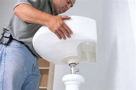 how to install a new bathroom sink how to remove install a bathroom faucet pedestal sink