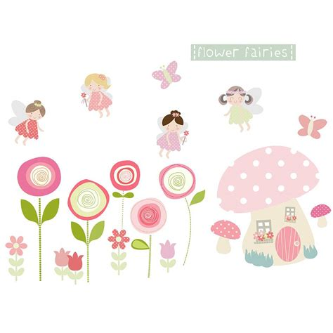 flower wall stickers flower fairies fabric wall stickers by littleprints