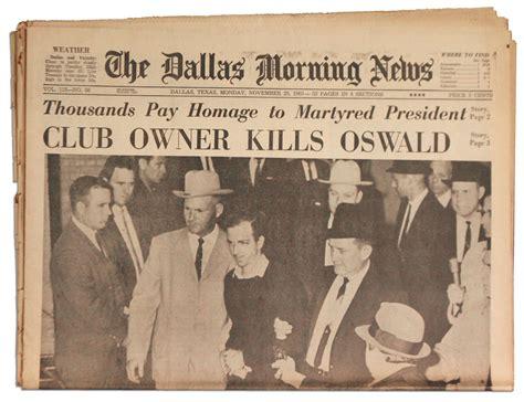 obituary headlines the dallas morning news lot detail jfk assassination newspaper the dallas