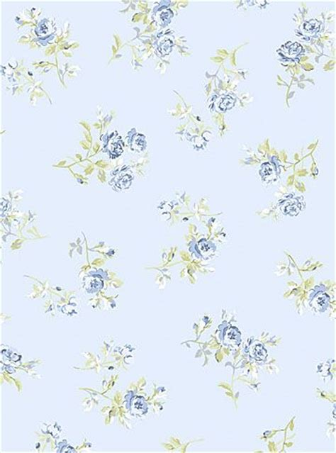 Wallpaper Stiker Motif Shabby Chic fabric shabby chic blue floral by p b textiles small blue and white flowers against a