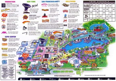 universal orlando map theme park brochures universal studios florida theme park brochures