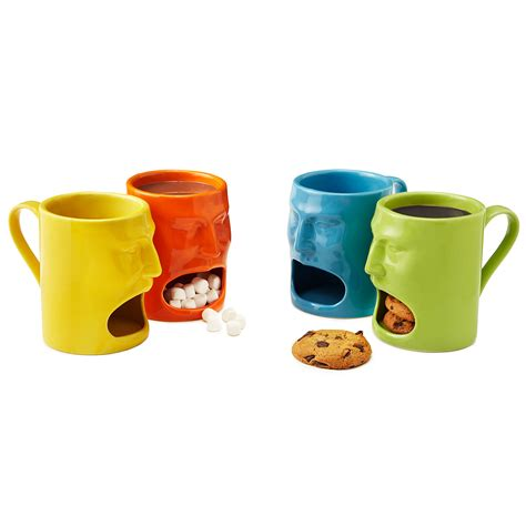cool mug warm or cool face mugs set of 2 cookie mug funny