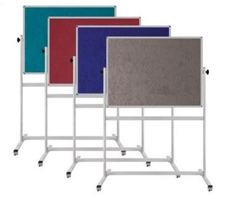 mobile housing board section 8 double sided notice board on mobile stand 100x180cm