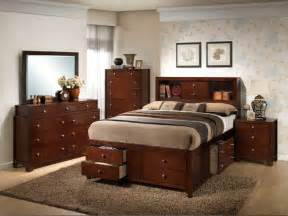 Bedroom Sets With Storage Weber Traditional Modern 5pc Queen Storage Bedroom Set