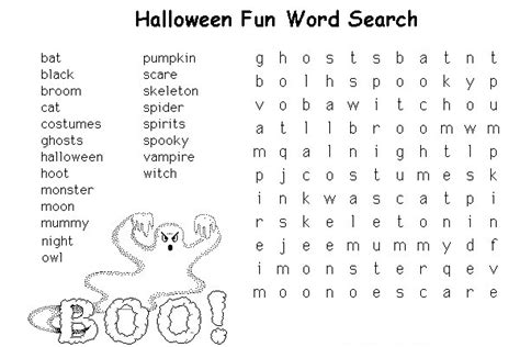 printable halloween puzzle games halloween crossword coloring pages
