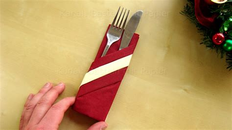 servietten tasche falten servietten falten bestecktasche mit 2 papier serviette