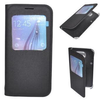 Flip Cover Samsung J3 M E housse coque etui view flip cover noir pour samsung galaxy