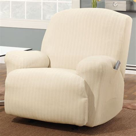 sears recliner slipcovers sure fit stretch pinstripe recliner slipcover home