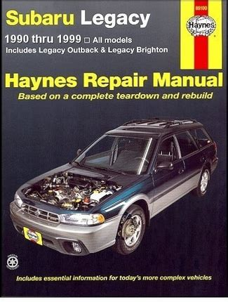 motor auto repair manual 2004 subaru outback on board diagnostic system subaru legacy outback brighton repair manual 1990 1999 haynes