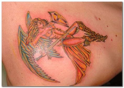 angel warrior tattoo warrior