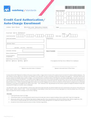 Permalink to Automatic Payment Authorization Form Template