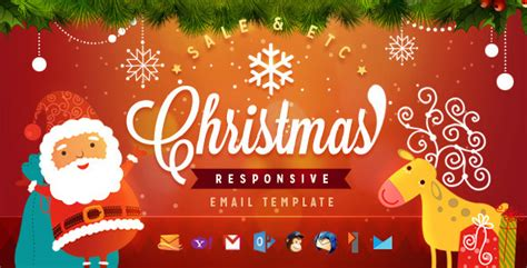 christmas themes for emails christmas responsive email template by ahmeng themeforest