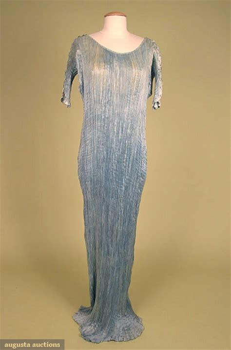 Id 0256 Blue Spiral Dress augusta auctions