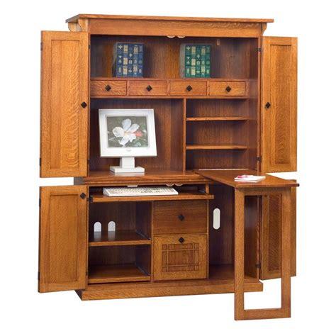 mission computer armoire amish desks amish furniture