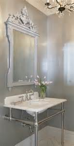 Mirrors For Powder Rooms Powder Room Mirrors Transitional Bathroom Leo