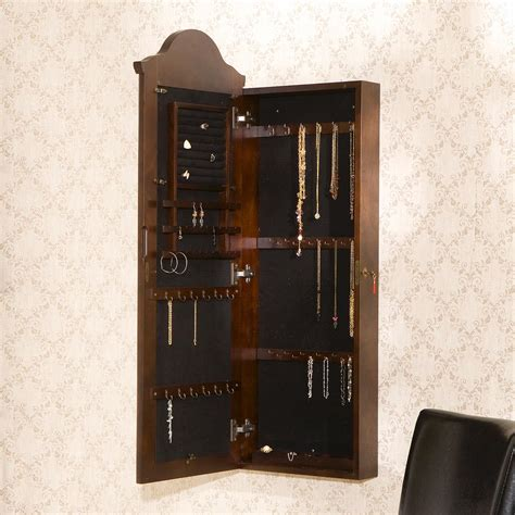southern enterprises wall mount jewelry armoire southern enterprises quot palace quot wall mount jewelry armoire
