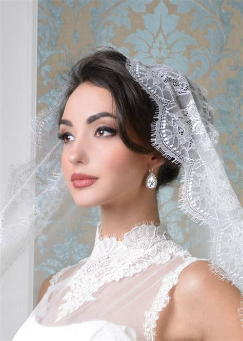 Wedding Hairstyles With Lace Veil by Sylvia Wedding Veil Cathedral Cathedral Veil Wedding