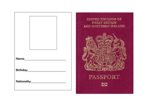 Passport Template Uk templates front website templates