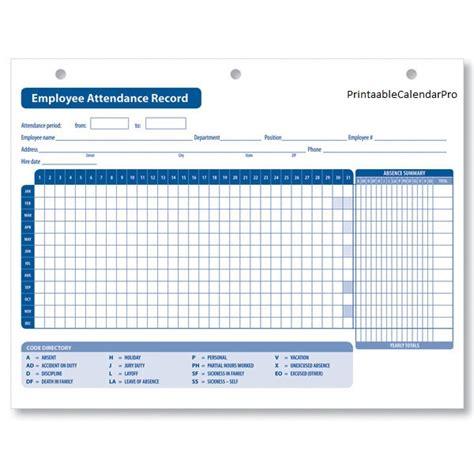 employee attendance tracker template free employee attendance calendar 2017 employee attendance