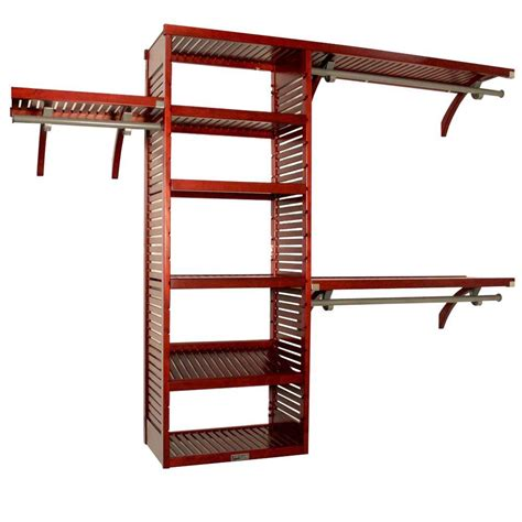 john louis home design tool john louis home 16 in deep deluxe closet system in red