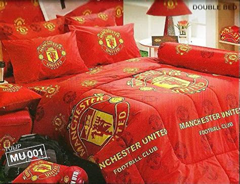 manchester united football club bedding  bag set twin size    season comforter