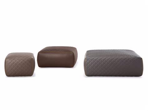 Leather Pouf Ottoman Ashley By Minotti Design Rodolfo