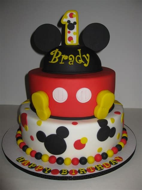 st birthday cakes  boys mickey mouse birthday cake