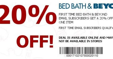 mobile bed bath and beyond coupon bed bath and beyond coupon 20 off bed bath and beyond