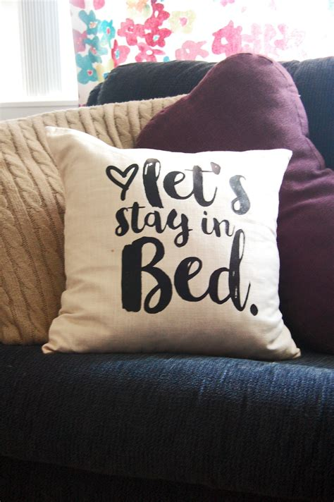 stay in bed indigo inspired let s stay in bed pillow diy 183 how to