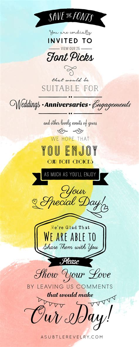 Wedding Bt Font by The Best Wedding Fonts A Subtle Revelry