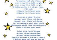 tu scendi dalle stelle testo canzone canzoni di natale per bambini raccolta di canti