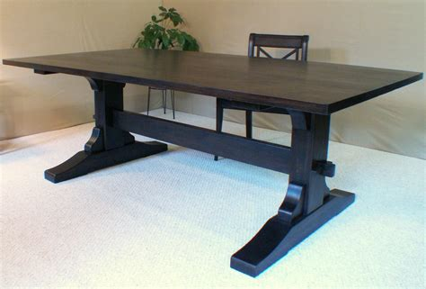 Black Wood Dining Tables Wood Dining Table Trestle Table Black Walnut Made In Vermont