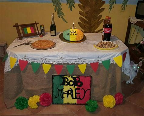 love themes for parties bob marley theme party table of birthday cake made by me