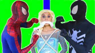 film frozen dan spiderman spiderman vs venom vs frozen elsa elsa kidnapped re