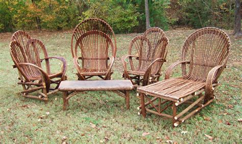 Rustic Patio Furniture Sets Rustic Resin Wicker Patio Furniture Sets With Unique Shape Design Combined Arms