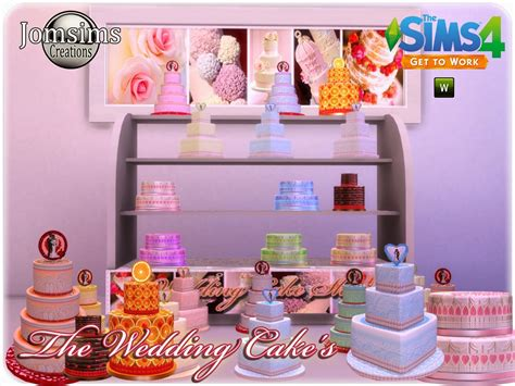 Wedding Cake On Sims 4 by Cc Finds The Wedding Cake S By Jomsims Sims 4
