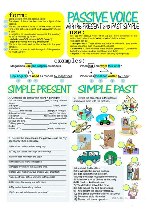 present simple passive pattern all worksheets 187 passive voice worksheets pdf printable