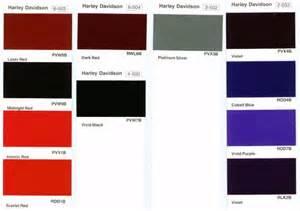 harley davidson paint color codes