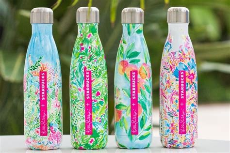 pulitzer starbucks starbucks teams with lilly pulitzer s well for water bottle line promo marketing