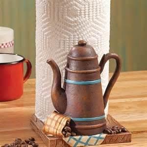 coffee themed paper towel holder buy rustic coffee pot kitchen paper towel holder cup on