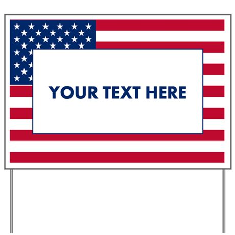 Create Your Own Political Yard Sign By Customstuffstore Lawn Sign Design Templates