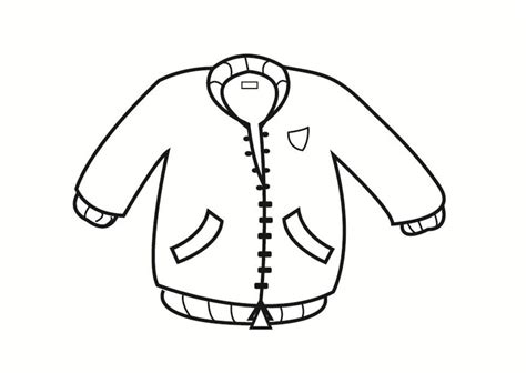 coloring page of a jacket dibujo para colorear chaquet 243 n img 23336