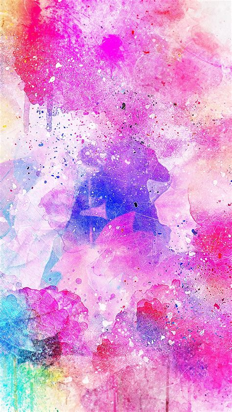 wallpaper  watercolor spots bright