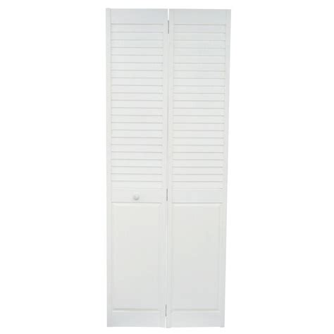Home Fashion Technologies 30 In X 80 In Louver Panel Solid Wood Bifold Closet Doors